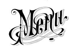 The Word Menu Vintage Typography Menu Headings Wedding The Graphics