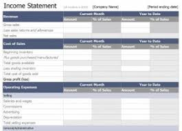 excel income statement excel income statement template