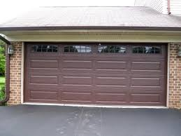 brown garage doors with windows. Amarr Stratford Long Panel Brown Cascade Windows For Garage Door Installation In Hyattesville, MD Doors With S