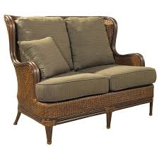 padma s plantation outdoor palm beach loveseat in natural antique