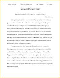 Personal Statement Grad School Samples 7 Grad School Personal Statement Example Free Invoice Letter