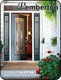 black front door with sidelightsCraftsman Style Entry Front Doors  The Glass Door Store
