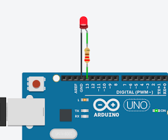 Led Circuit Design Tutorial Blink An Led With Arduino In Tinkercad 6 Steps With