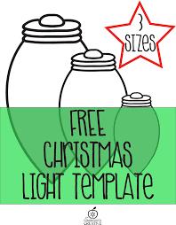 printable christmas light garland craft for kids printable christmas light template