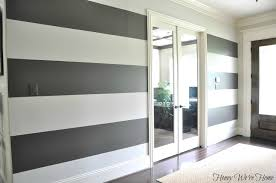 On The Wall Painting How To Paint Perfect Wide Stripes Honey Were Home