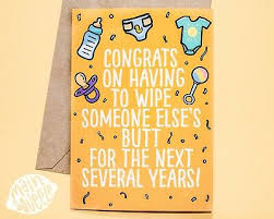 Funny New Baby Card New Baby Congrats Funny Baby Cards