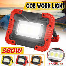 LED <b>Portable</b> Spotlight COB Flood Lights <b>USB</b> Rechargeable ...