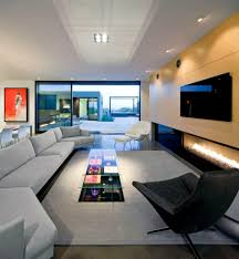 Living   Luxury Style Long Narrow Living Room Interior - Livingroom layout