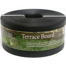master mark terrace board 5 in x 40 ft black landscape lawn edging with stakes 95441 the home depot