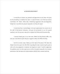 8 Sample Acknowledgment Report Free Sample Example