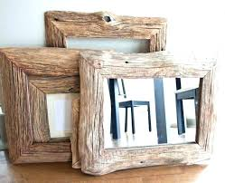 rustic wood wall mirror framed mirrors in reclaimed farm frame wal rustic wood framed mirrors