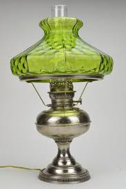 green glass lamp shade rayo antique nickel hurricane with art 16