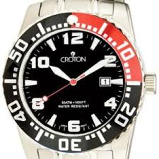 croton watches for men collection carrywatches com croton ca301048ssrd men s stainless steel black dial dive watch