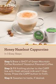 Making a latte in 3 easy steps: K Cafe Special Edition Single Serve Coffee Latte Cappuccino Maker Hazelnut Cappuccino Keurig Recipes Coffee Flavor