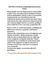 psy week individual depression paper by dennis young issuu  psy 270 week 4 individual depression paper by dennis young issuu research topics on bipolar disorder p