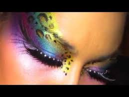 leopard eye print makeup tutorial how to face paint