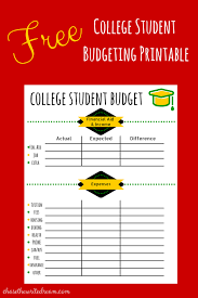 How To Budget As A College Student College Budget Template Free Printable For Students College Tips