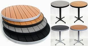 teak faux restaurant round tabletops