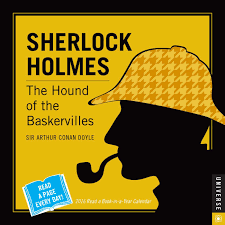 sherlock holmes a book in a year day to day calendar  sherlock holmes 2016 a book in a year day to day calendar the hound of the baskervilles arthur conan doyle 0676728029588 com books