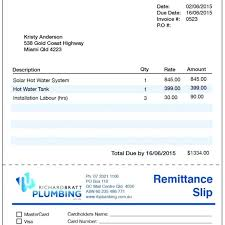 Plumbing Invoice Plumbing Receipt Sample Plumbing Invoice Template Plumbing Repair