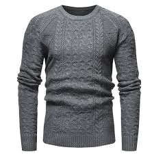 Classic Twist <b>Men</b> Casual Slim Round Neck Knit Pullover Sale ...