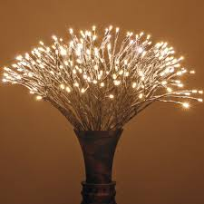 Silver Starburst Led Lighted Branches Warm White Twinkle