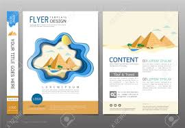 Sample Brochure Design Tourism Covers Book Template Vector