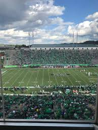 Joan C Edwards Stadium Section 405 Row 1 Seat 4 Home Of
