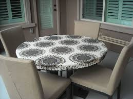 cozy fitted round tablecloth