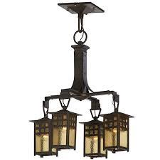 gustav stickley rare chandelier gustav stickleyantique lightingamber