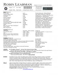 Bistrun Theater Resume Template New Acting Resume Example Unique