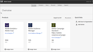 products page administration user and product management