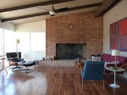 modern brick fireplace large brick fireplace in family room after mid century modern ranc