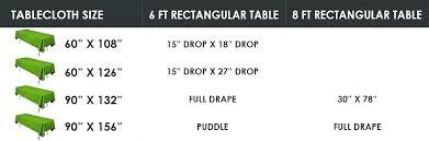 rectangular tablecloth sizes rectangle tablecloth sizes 8 ft or inch rectangular tables inch x inch rectangle rectangular tablecloth sizes