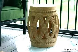 tall garden stool side table outdoor ceramic tables cream for extra bar stools