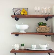 Exciting Rustic Kitchen Wall Shelves Images Decoration Inspiration