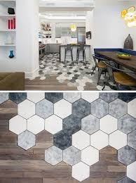 Teds Wood Working - 19 Ideas For Using Hexagons In Interior Design And  Architecture // This New York apartment creatively transitions from hexagon  tiles in ...