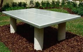 homemade ping pong table how