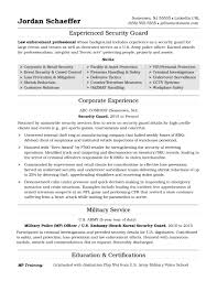 Security Officer Resume Example Security Guard Resume Examples As