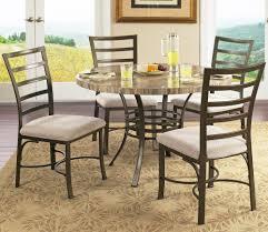 ellen round table 4 chairs set