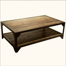 stylish industrial style coffee table luca reclaimed with regard to wood and iron design 6