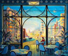 art deco wallpaper mural