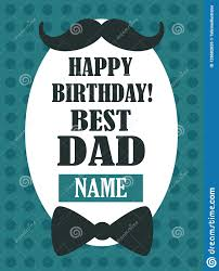 Design A Birthday Card For Dad Happy Birthday Best Dad Greeting Card Stock Vector