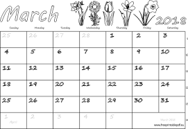 blank 2018 calendar march 2018 monthly calendar blank us uk free printable pdf