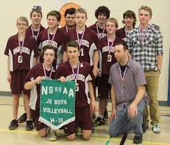 manitouwadge wolverines sweep boys junior senior nsssaa titles manitouwadge high school wolverines junior boys volleyball team their 2014 15 nsssaa banner