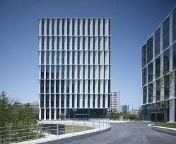 office facade. Gallery Of 3Cubes Office Building / Gmp Architekten - 5 Facade A
