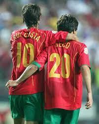 Rui Costa y Deco selección de Portugal
