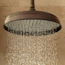 modern oil rubbed bronze shower head and handheld combo