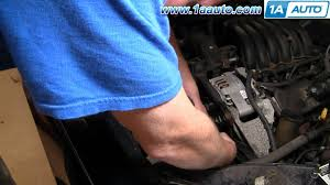 how to install replace serpentine belt tensioner ford taurus how to install replace serpentine belt tensioner ford taurus mercury sable v6 93 06 1aauto com
