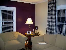Wall Paint Living Room Blue Accent Wall Bold Blue Accent Wall In The Living Room Via The